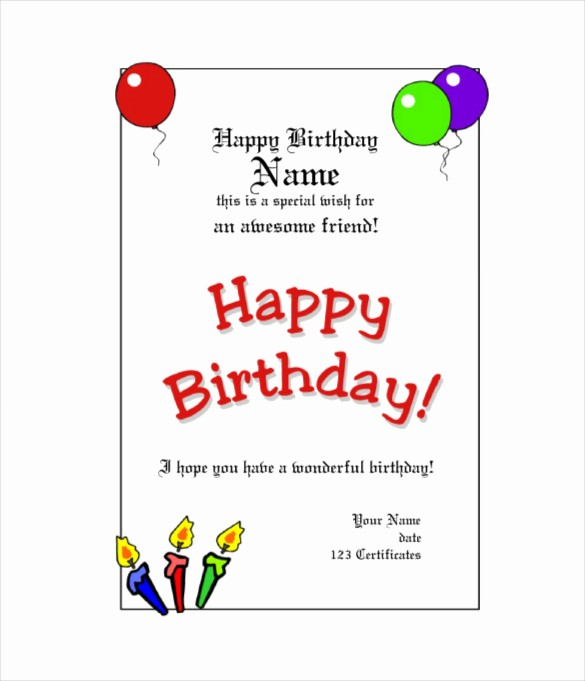 Free Gift Card Template Word Luxury Birthday Gift Certificate Templates 16 Free Word Pdf