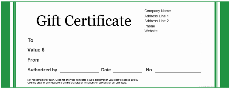 Free Gift Card Template Word Unique Custom Gift Certificate Templates for Microsoft Word