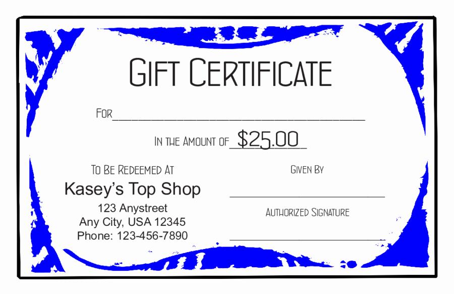 Free Gift Certificate Template Pdf Beautiful 2018 Gift Certificate form Fillable Printable Pdf