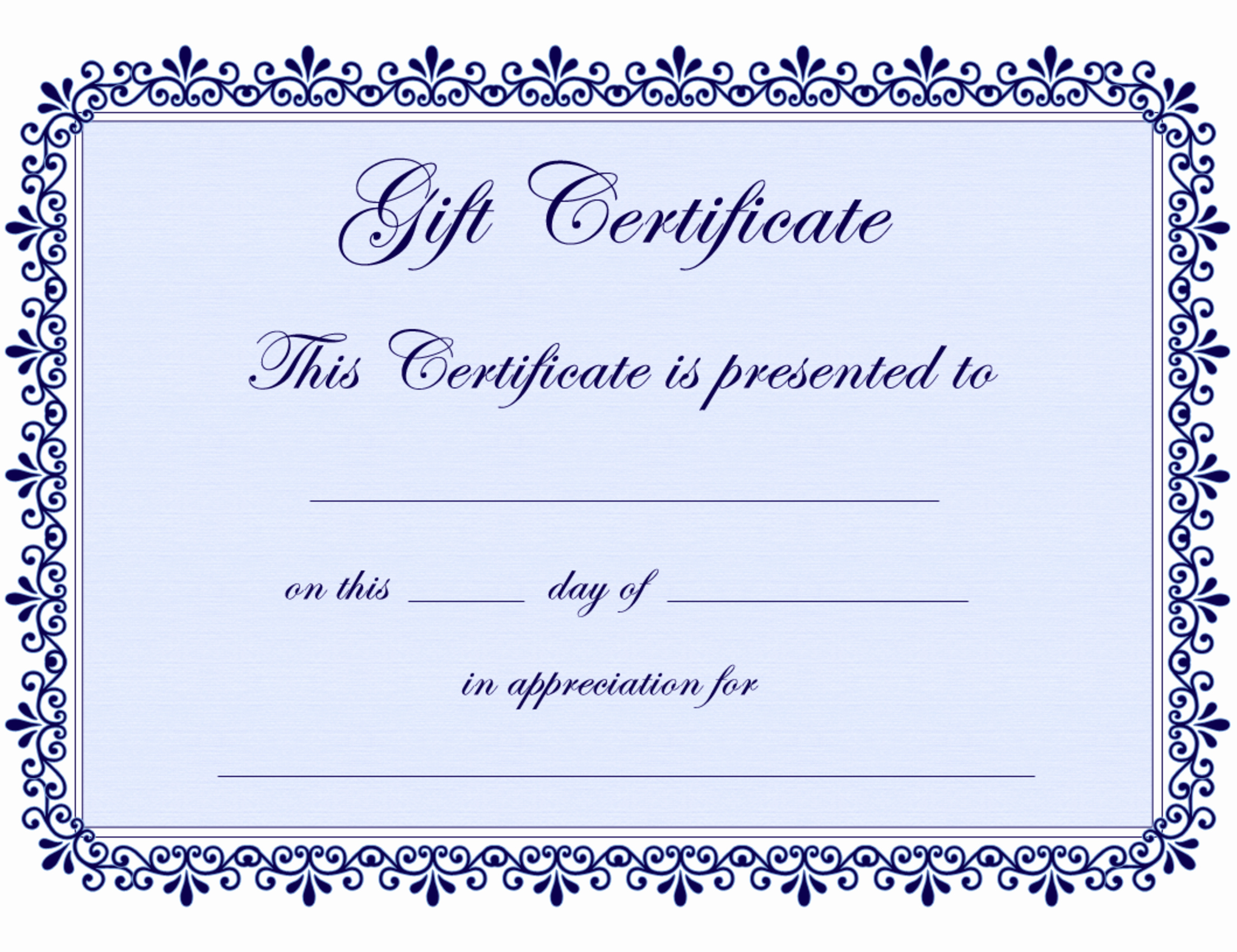 Free Gift Certificate Template Pdf Best Of Certificate Templates
