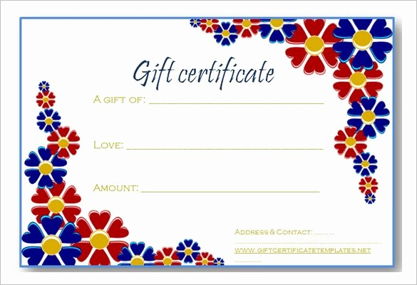 Free Gift Certificate Template Pdf Best Of Gift Certificate Template 42 Examples In Pdf Word In