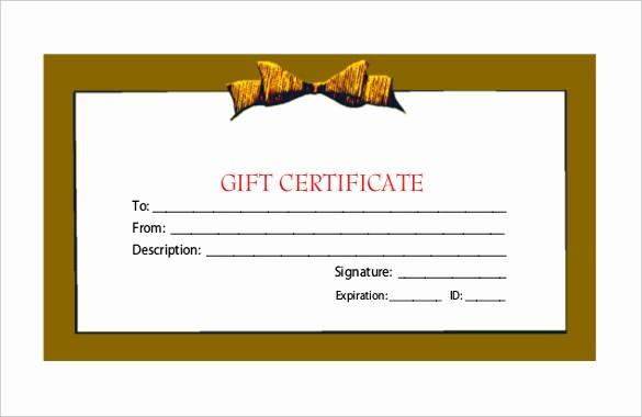 Free Gift Certificate Template Pdf Fresh 23 Holiday Gift Certificate Templates Psd