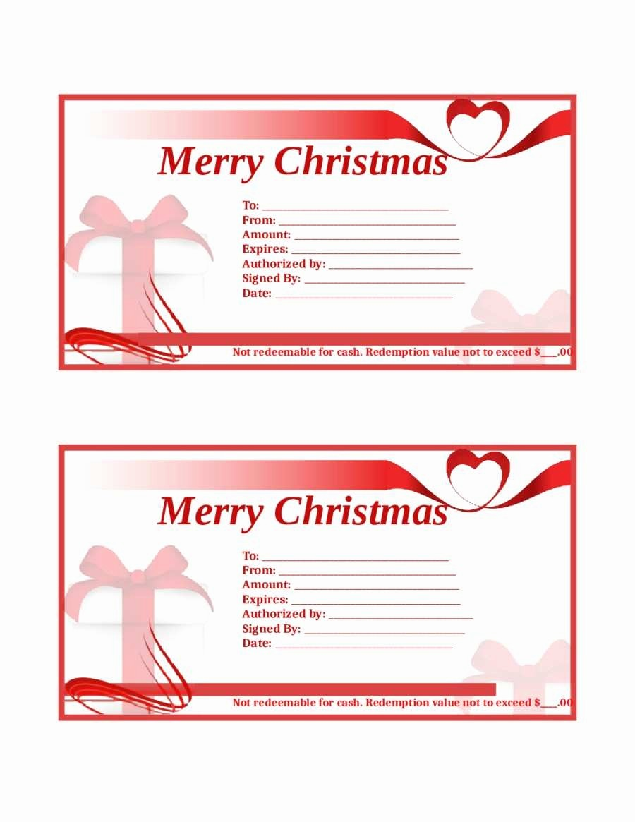 Free Gift Certificate Template Pdf Fresh Fresh Free Christmas Gift Certificate Templates Pdf