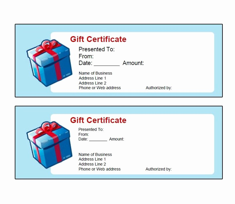 Free Gift Certificate Template Pdf Lovely 40 Free Gift Certificate Templates Template Lab