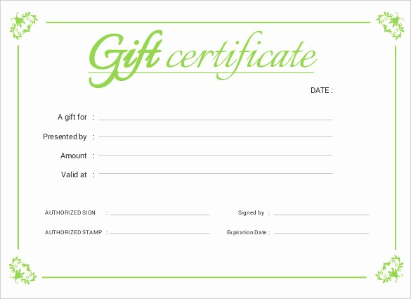 Free Gift Certificate Template Pdf Lovely Certificate Templates