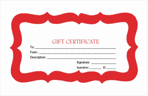 Free Gift Certificate Template Pdf New 23 Holiday Gift Certificate Templates Psd