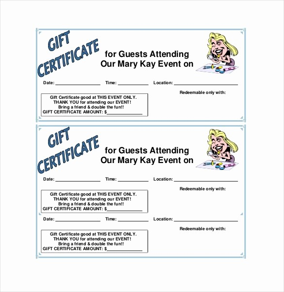 Free Gift Certificate Template Pdf New 30 Blank Gift Certificate Templates Doc Pdf