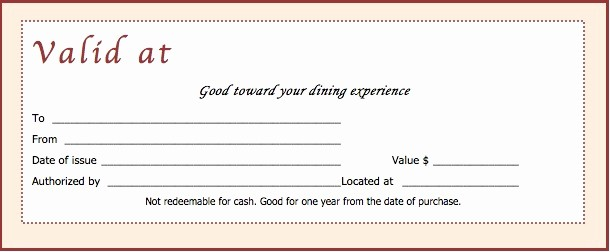 Free Gift Certificate Template Pdf New Download Restaurant Gift Certificate Templates Wikidownload