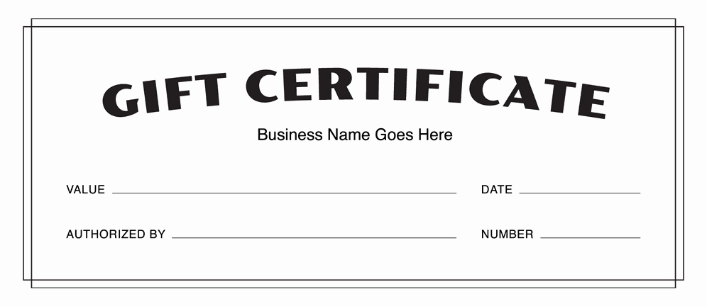 Free Gift Certificate Template Pdf Unique Gift Certificate Templates Download Free Gift