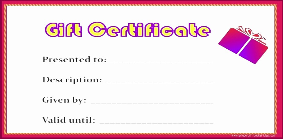 Free Gift Certificates to Print Awesome Free Printable Blank Gift Certificates