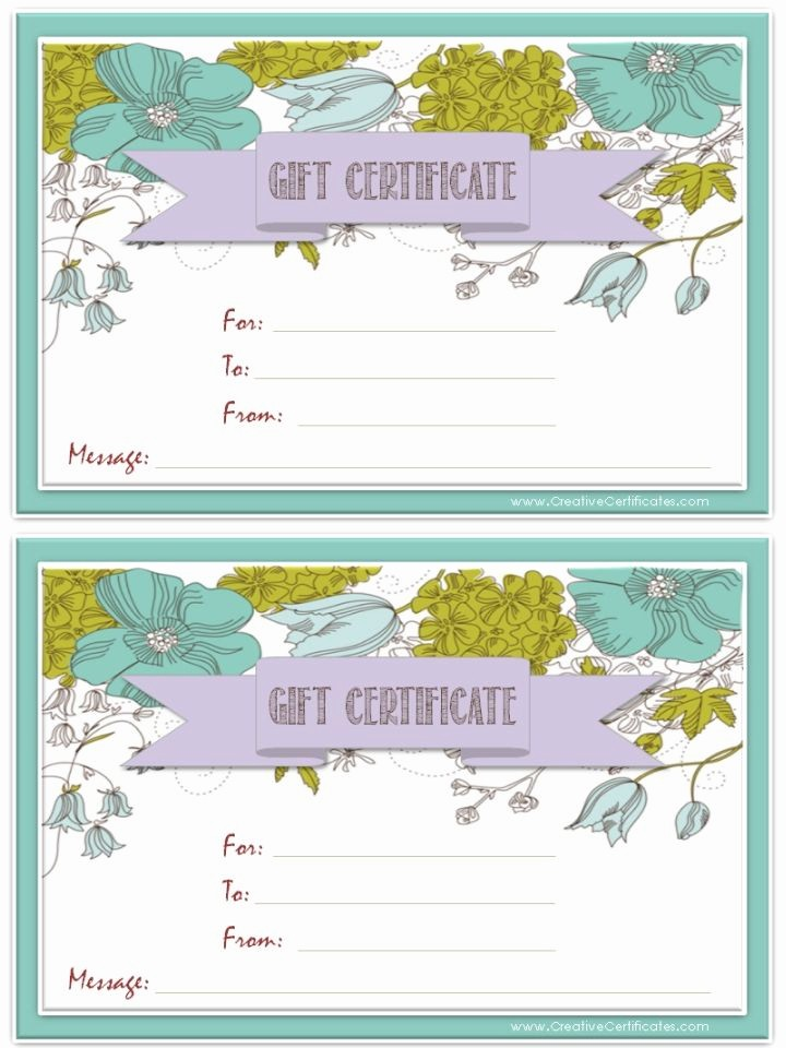 Free Gift Certificates to Print Elegant 25 Unique Gift Certificate Templates Ideas On Pinterest