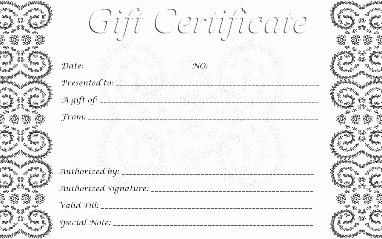 Free Gift Certificates to Print Elegant 28 Cool Printable Gift Certificates