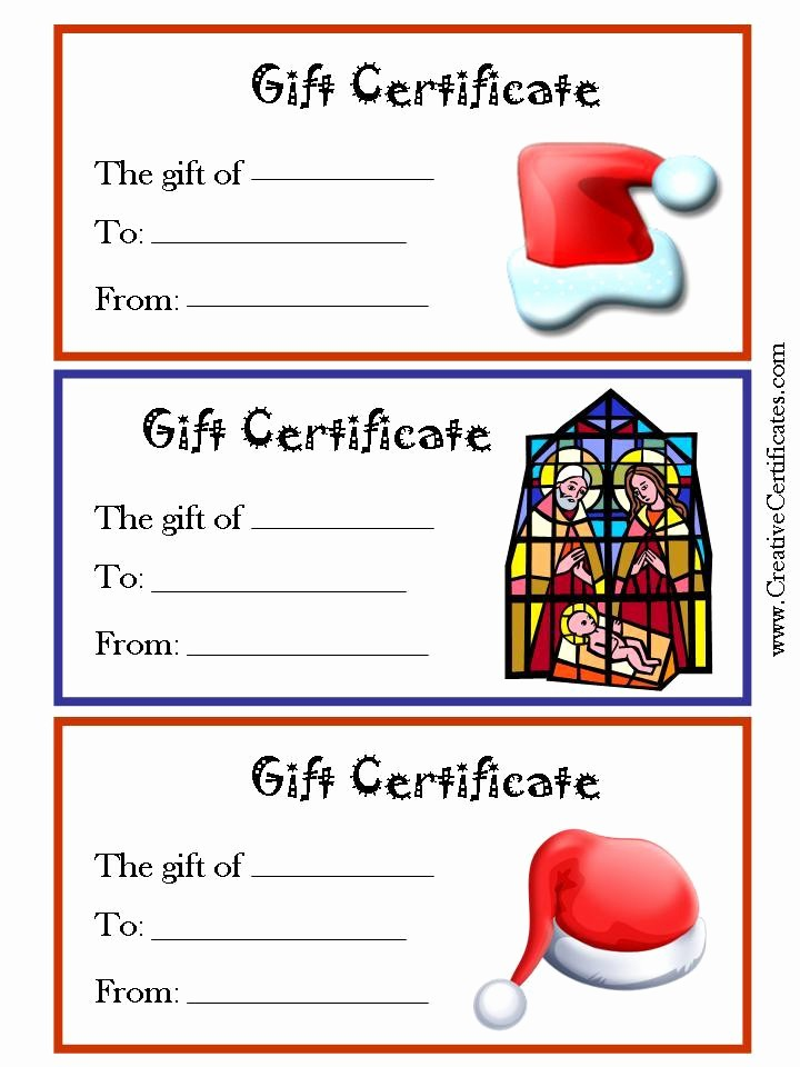 Free Gift Certificates to Print Elegant 6 Best Of Free Christmas Printable Gift