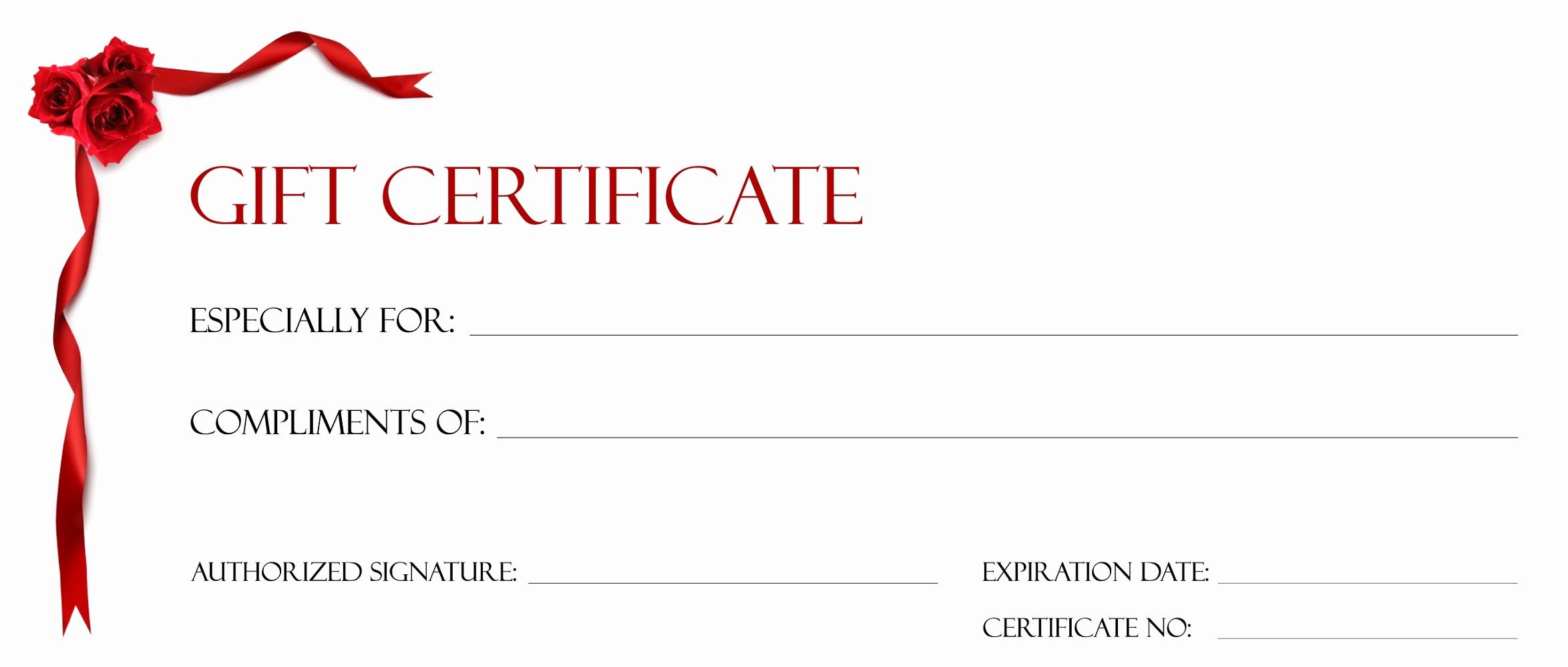 Free Gift Certificates to Print Elegant Gift Certificate Templates to Print