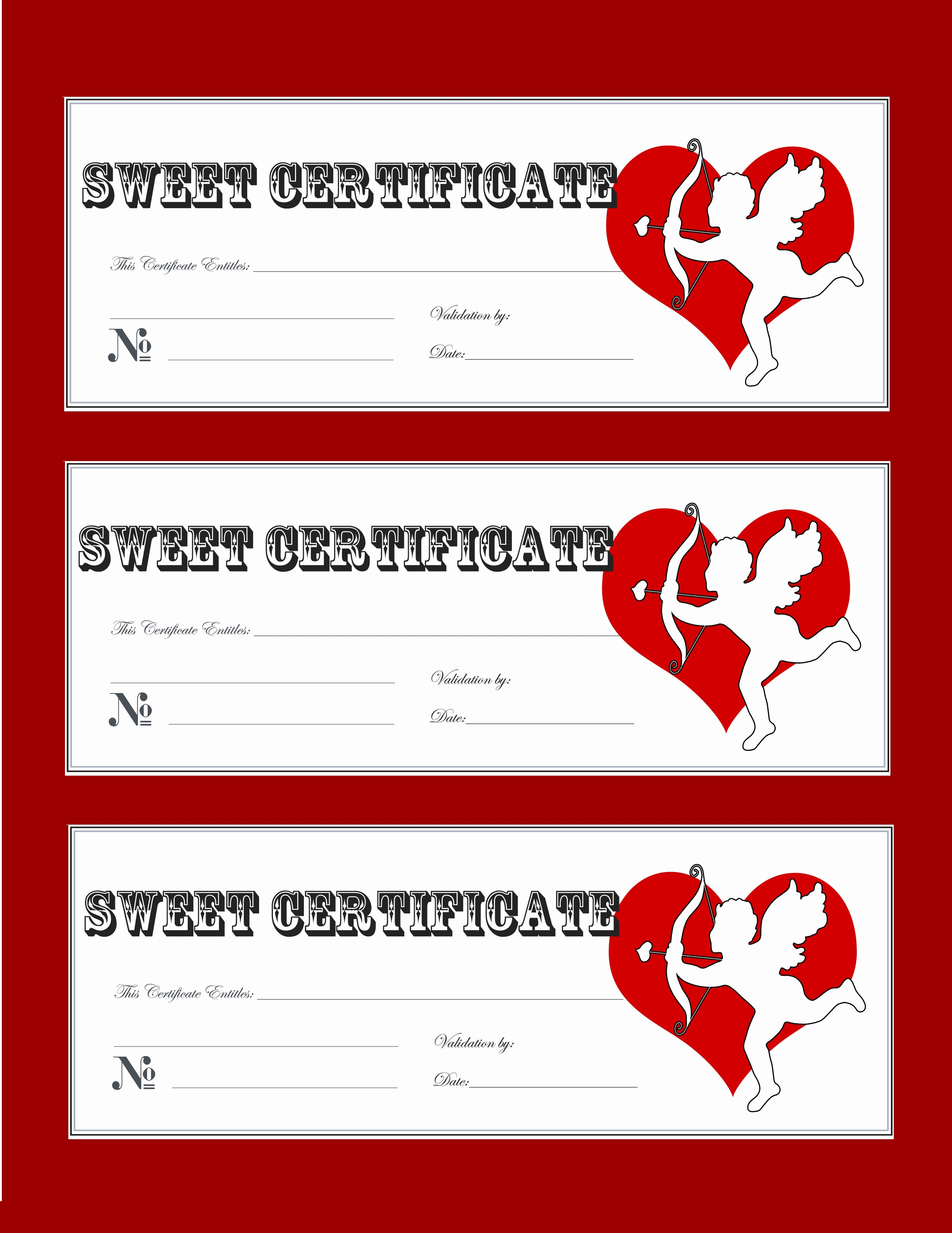Free Gift Certificates to Print New Valentine Gift Certificate Templates