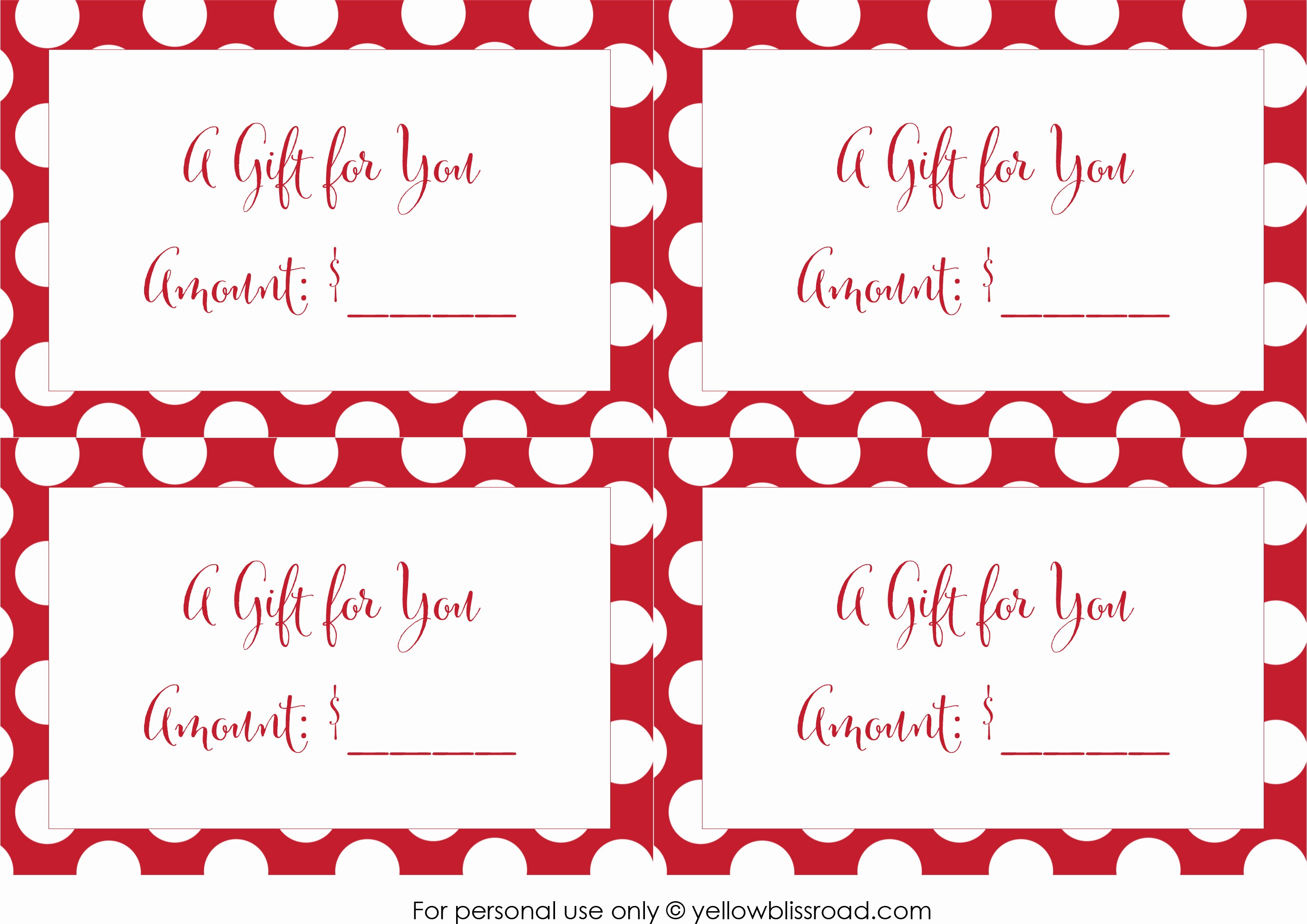Free Gift Certificates to Print Unique Free Printable Gift Card Envelopes Yellow Bliss Road