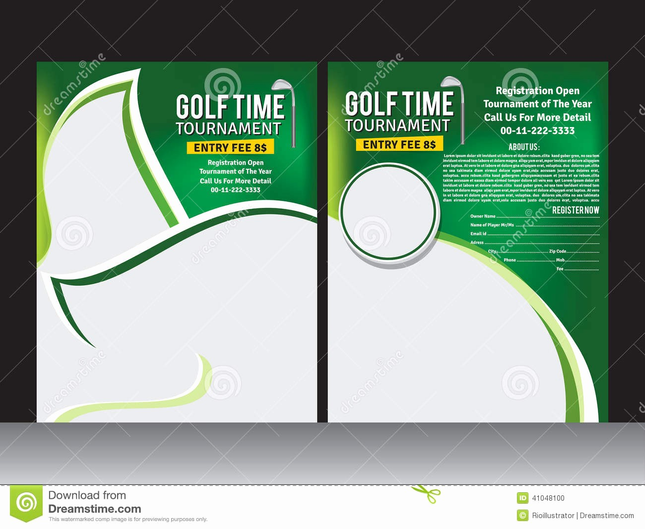 Free Golf Outing Flyer Template Beautiful Golf for Flyer Clipart