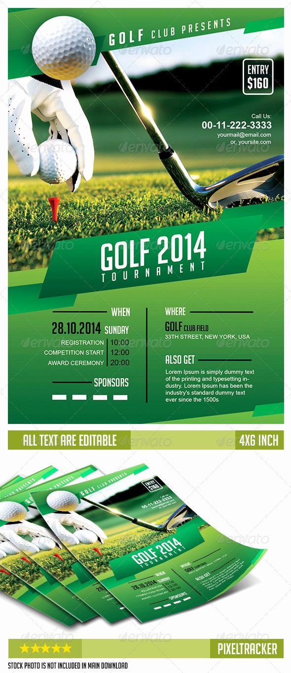 Free Golf Outing Flyer Template Beautiful Golf tournament Flyer Template No Model Required Download