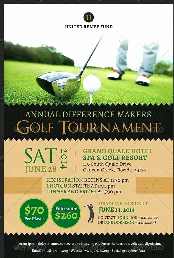 Free Golf Outing Flyer Template Luxury Golf tournament Flyer Template Download Free Free Golf