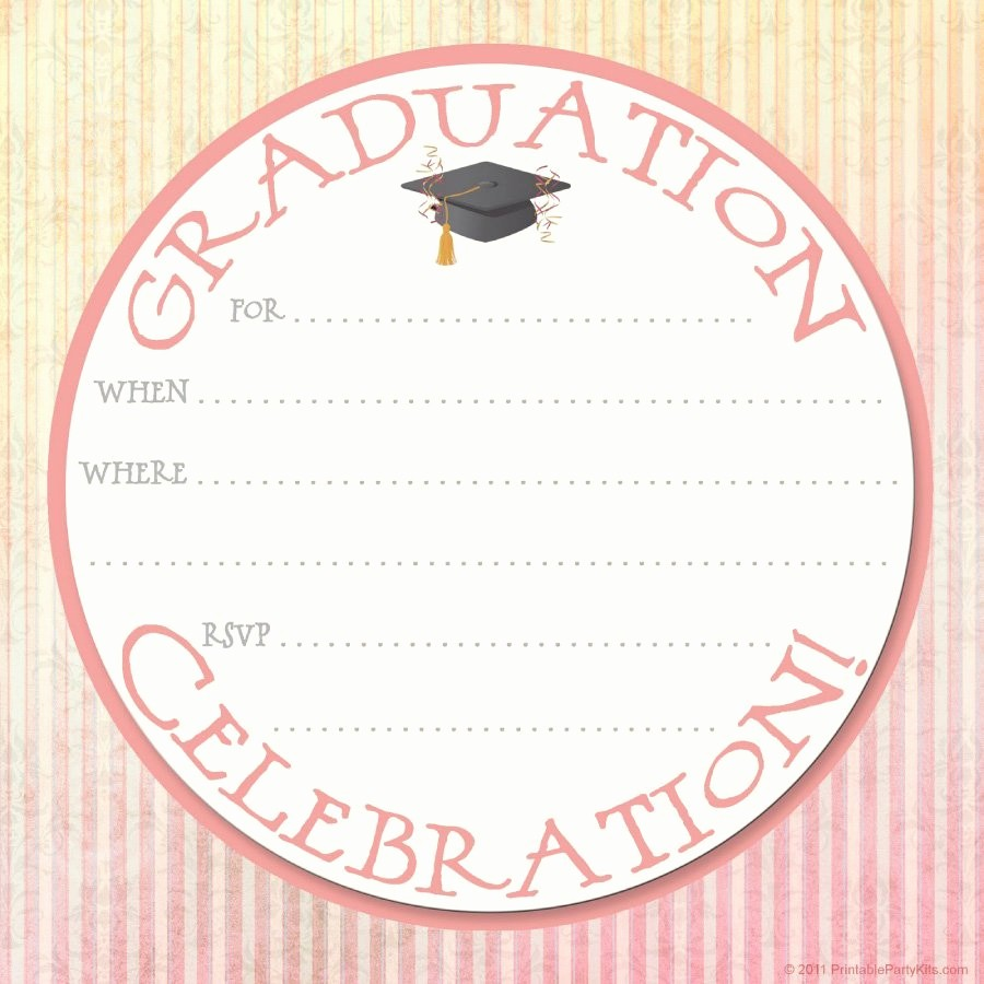 Free Graduation Party Invitation Template Elegant 40 Free Graduation Invitation Templates Template Lab