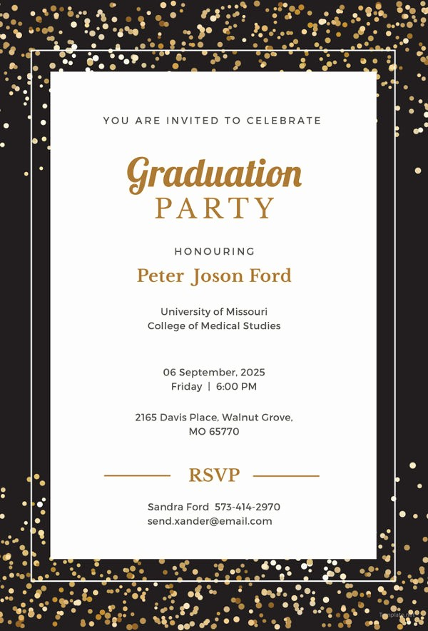 Free Graduation Party Invitation Template Fresh 19 Graduation Invitation Templates Invitation Templates