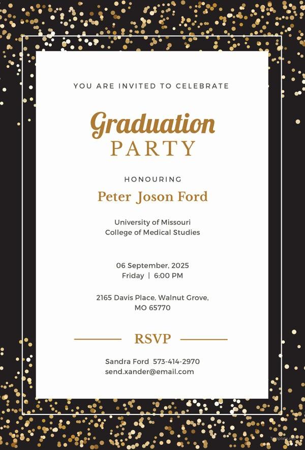 Free Graduation Party Invitation Template Fresh 19 Graduation Invitation Templates Invitation Templates