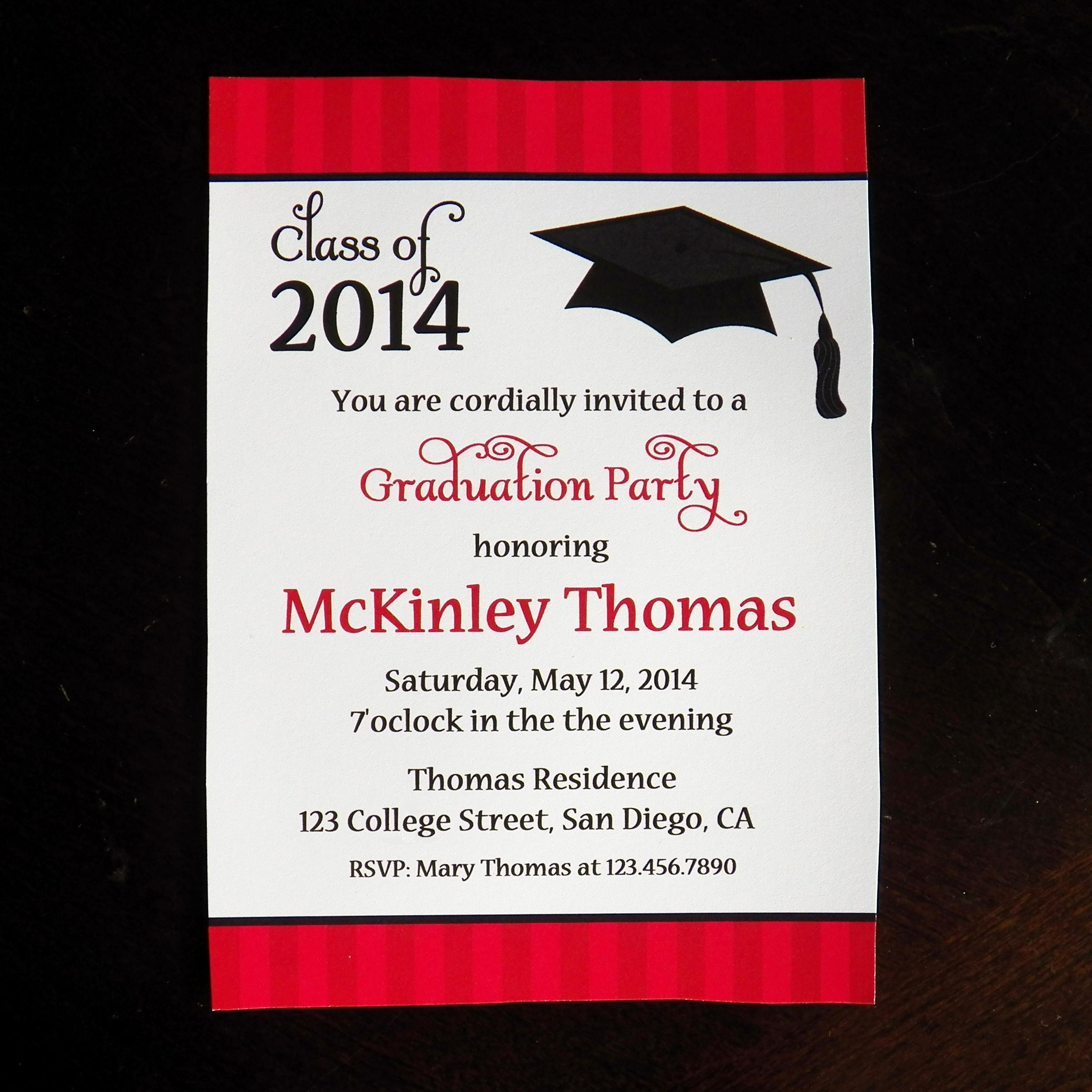 Free Graduation Party Invitation Template Fresh College Graduation Party Invitations
