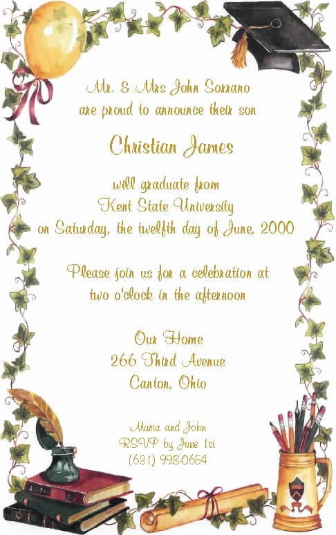 Free Graduation Party Invitation Template Fresh Invitation Template Graduation Party