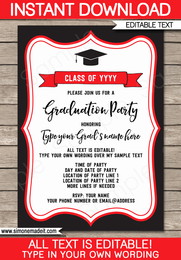 Free Graduation Party Invitation Template Inspirational Graduation Party Invitations Template