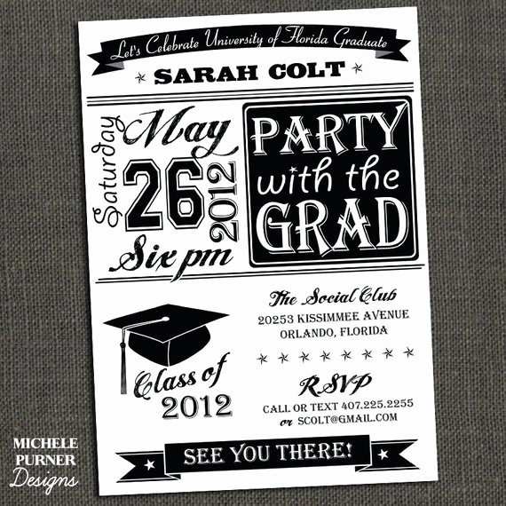 Free Graduation Party Invitation Template Inspirational Items Similar to High School or College Graduation Party