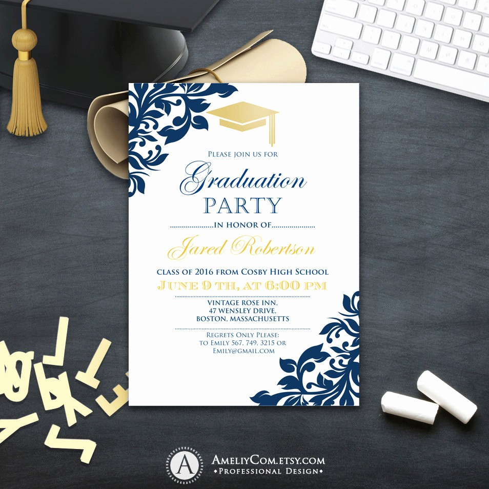 Free Graduation Party Invitation Template Lovely Graduation Party Invitation Сollege Printable Template Boy