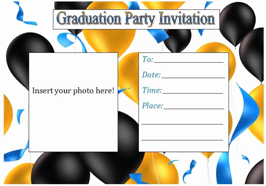Free Graduation Party Invitation Template Luxury 40 Free Graduation Invitation Templates Template Lab