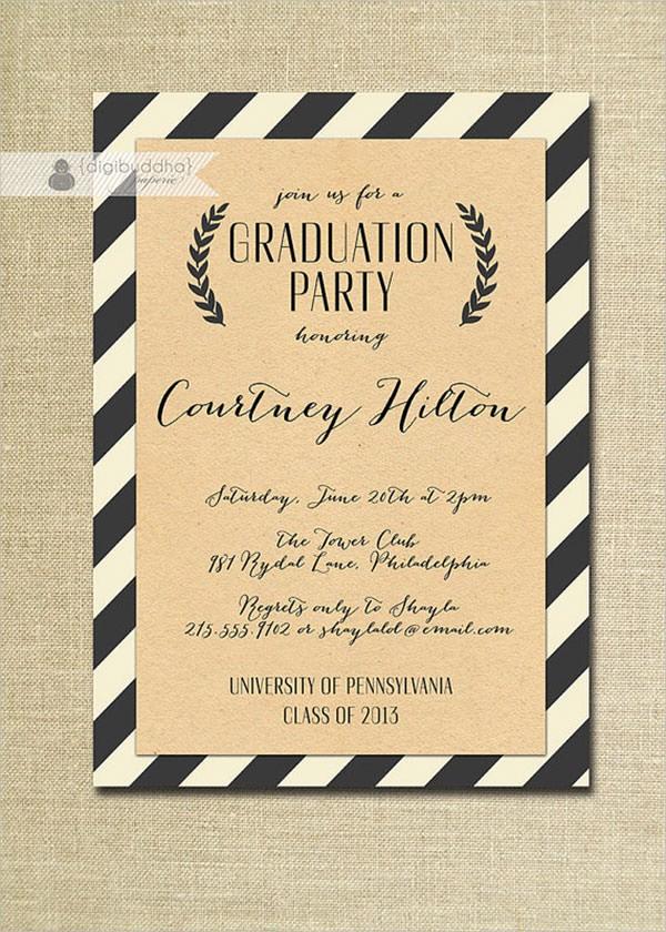 Free Graduation Party Invitation Template Luxury 7 Graduation Invitation Templates