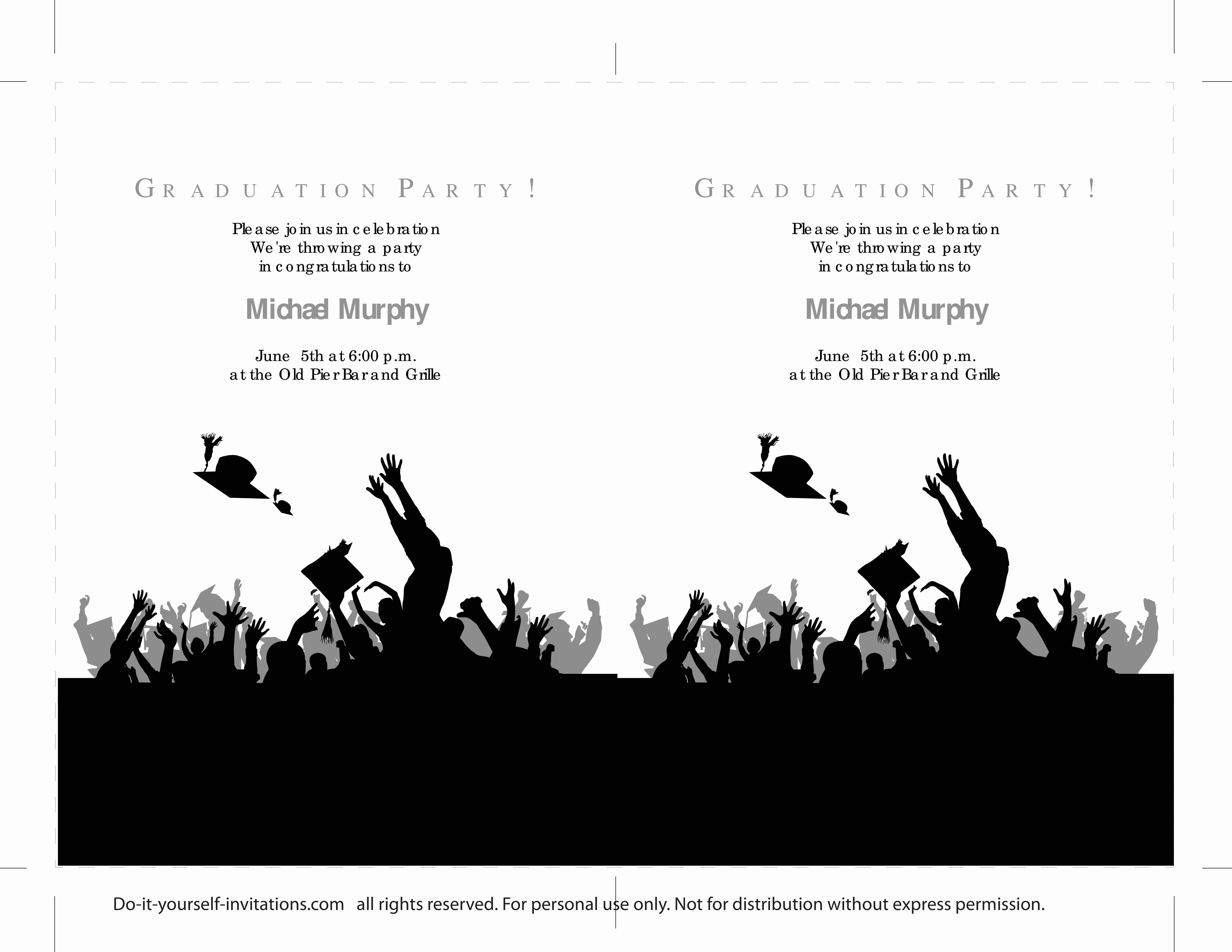 Free Graduation Party Invitation Templates Awesome 40 Free Graduation Invitation Templates Template Lab
