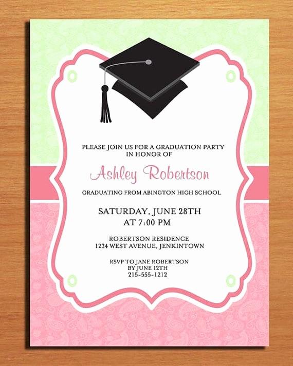 Free Graduation Party Invitation Templates Awesome Free Printable Graduation Party Invitation Template