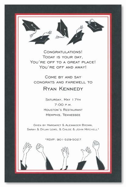 Free Graduation Party Invitation Templates Awesome Graduation Open House Invitation Templates