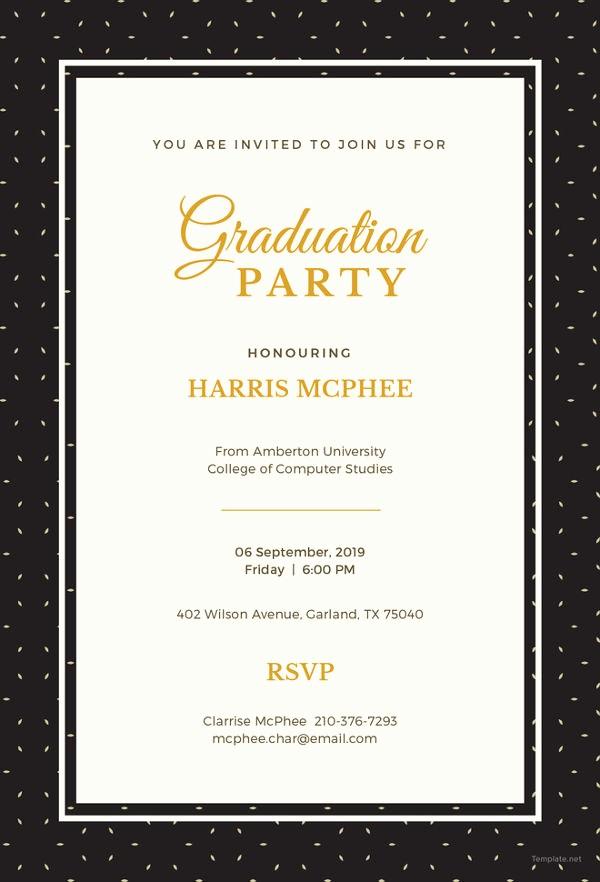 Free Graduation Party Invitation Templates Beautiful 19 Graduation Invitation Templates Invitation Templates