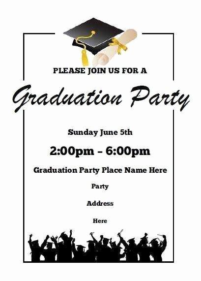Free Graduation Party Invitation Templates Beautiful Free Graduation Party Invitation Templates for Word Luxury