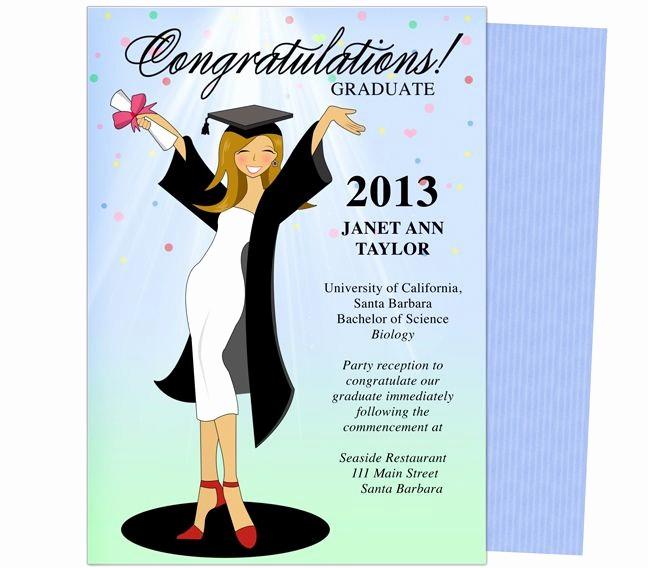 Free Graduation Party Invitation Templates Elegant Cheer for the Graduate Graduation Party Announcement