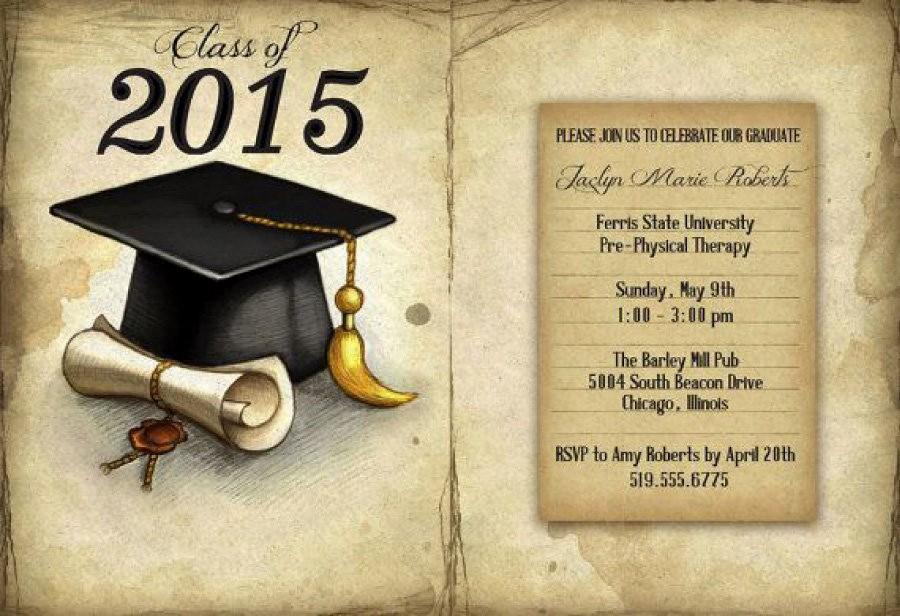 Free Graduation Party Invitation Templates Fresh 40 Free Graduation Invitation Templates Template Lab