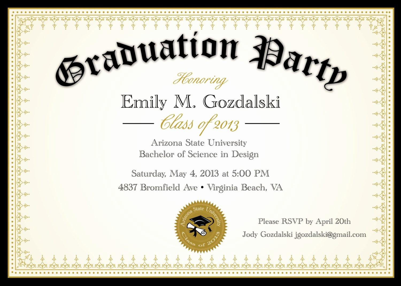 Free Graduation Party Invitation Templates Fresh Graduation Invitation Graduation Invitation Templates