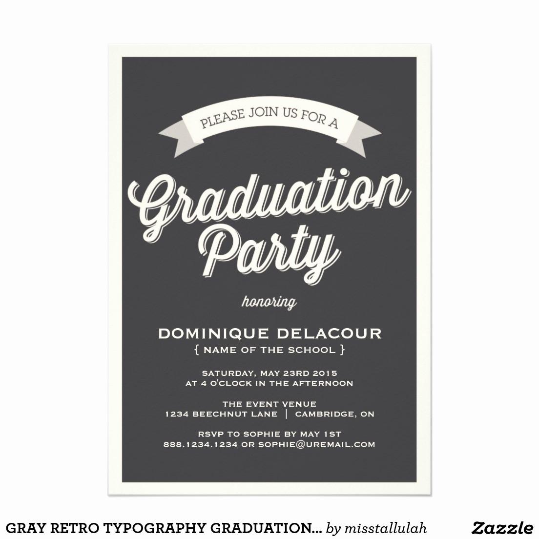 Free Graduation Party Invitation Templates Fresh Graduation Open House Invitations