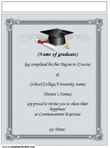 Free Graduation Party Invitation Templates Fresh Graduation the Best Free Invitation Templates 12
