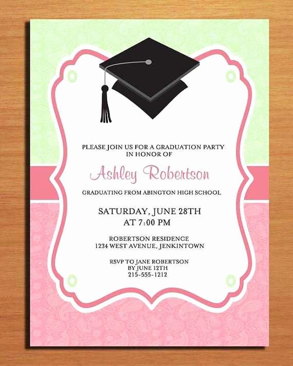 Free Graduation Party Invitation Templates Inspirational Graduation Party Invitations Templates Free Unique Free