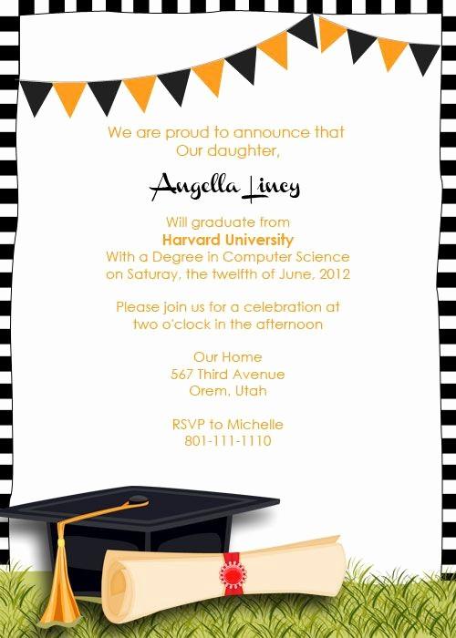 Free Graduation Party Invitation Templates Lovely Free Graduation Party Invitation