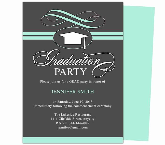 Free Graduation Party Invitation Templates Lovely Graduation Party Invitation Templates Swirl Graduation