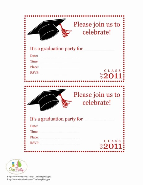 Free Graduation Party Invitation Templates Luxury Fun and Facts with Kids Graduation Diy Party Ideas and