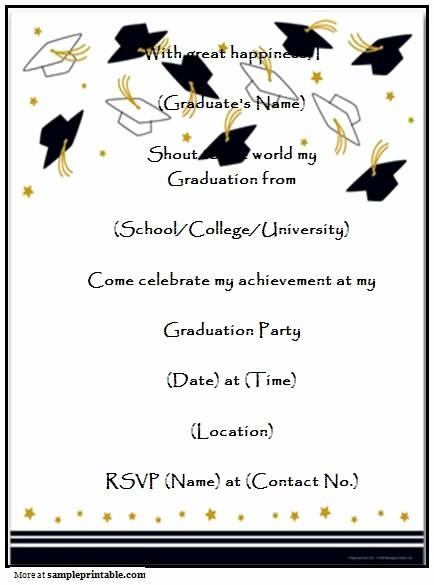 Free Graduation Party Invitation Templates Luxury Graduation Party Invitation Templates Free Printable