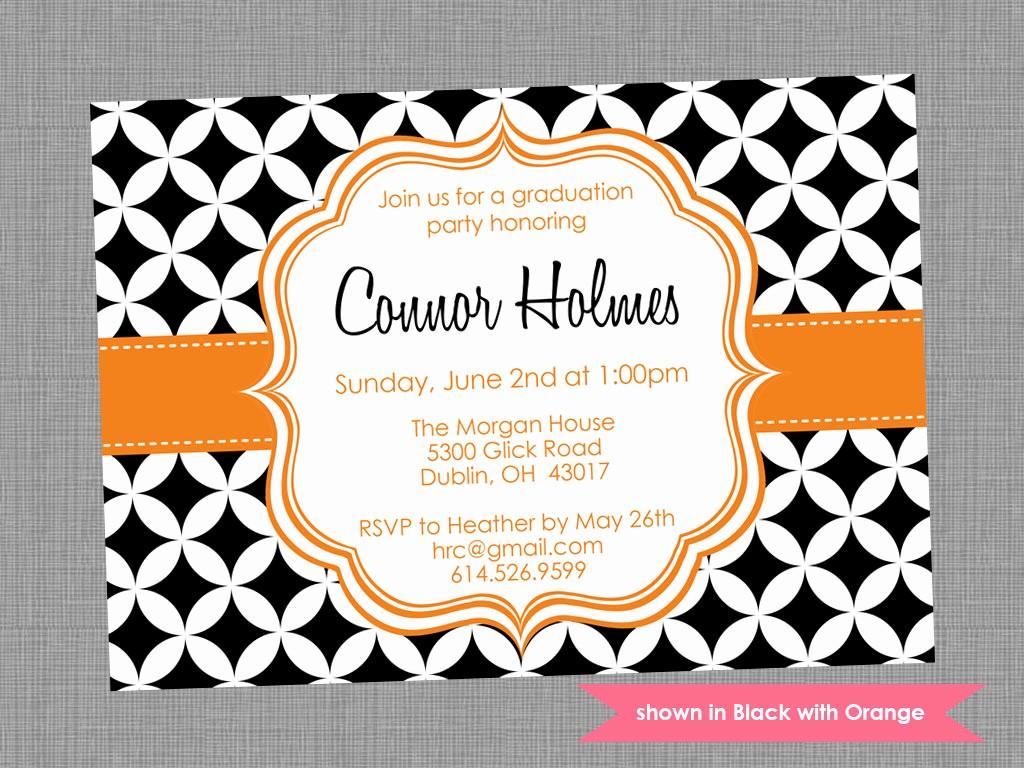Free Graduation Party Invitation Templates Luxury Graduation Party Invite Templates