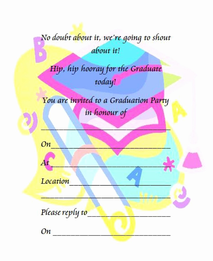 Free Graduation Party Invitations Templates Beautiful 40 Free Graduation Invitation Templates Template Lab